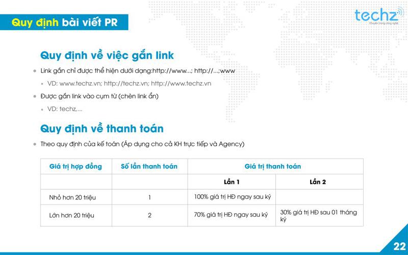 Báo giá đăng bài Pr, Booking quảng cáo trên Techz.vn