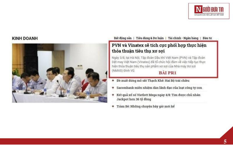 Báo giá đăng bài Pr, Booking quảng cáo trên Người đưa tin