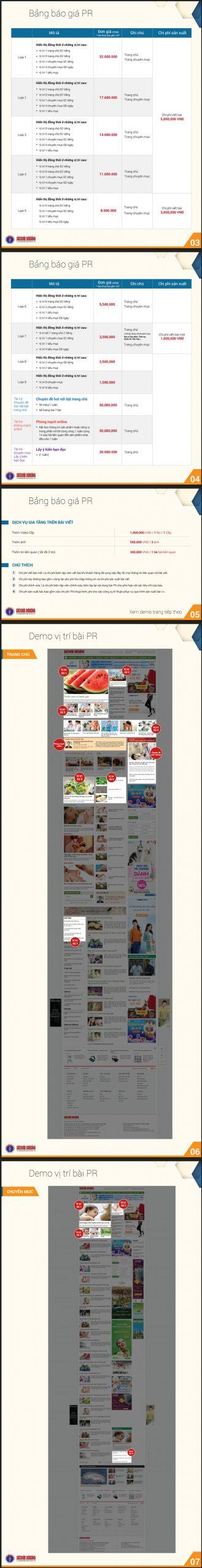 Báo giá đăng bài Pr, Booking quảng cáo trên báo sức khỏe và đời sống