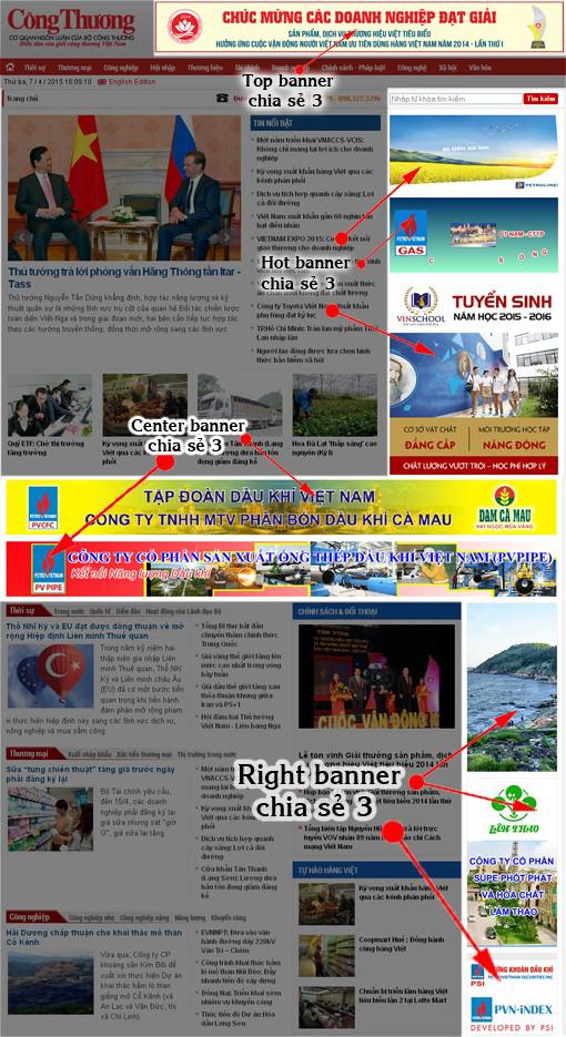 Báo giá đăng bài Pr, Booking quảng cáo trên báo công thương